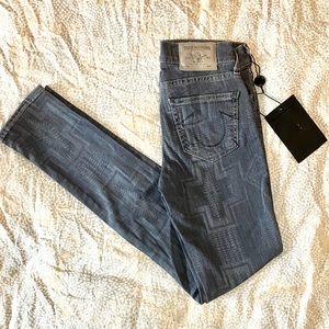 True Religion Printed Skinny Jeans